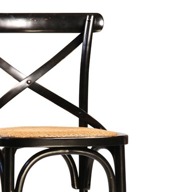 Black Painted Oak Bar Stool - Image 2 of 2