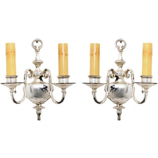 Silver Sconces - A Pair