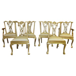 Gold Dinning Chairs - Set of 6