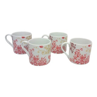 Winter Lodge Porcelain Mugs-Set of Four