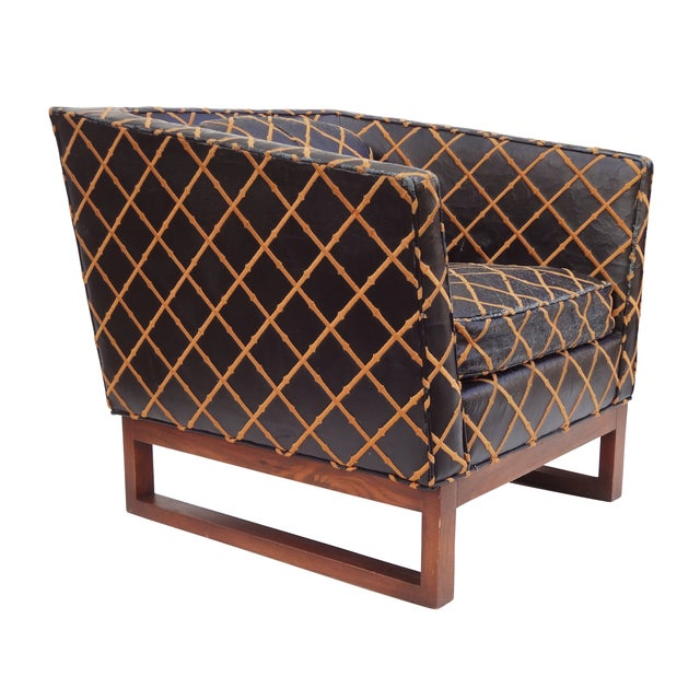 Image of Geometric Armchairs Signed Klingman's - A Pair