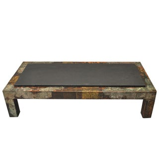 Paul Evans (1931-1987) Patchwork Metal and Slate Coffee Table