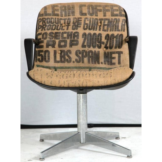 Steelcase Side Chairs in Burlap, Pair - Image 2 of 8