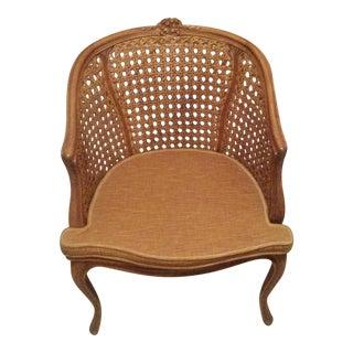 Vintage Double Cane Barrel Chair