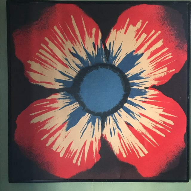 Original Tom Tru Vintage Poppy Sreen Print - Image 2 of 9