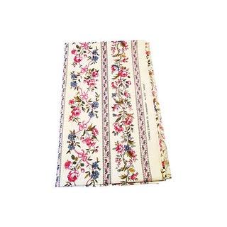 Cotton Screenprint Fabric Remnant - 2.33 Yds