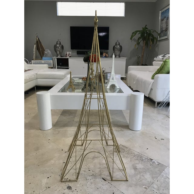"Giant Eiffel Tower Sculpture Iron & Rare 46"" tall 18"" wide. - Image 11 of 11"