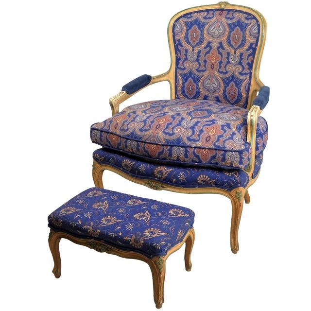 W j sloan 39 s fauteuil ottoman chairish - Fauteuil cinna ottoman ...