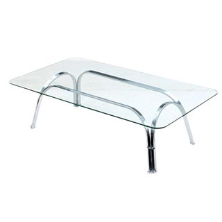 Sprunger Style Chrome and Glass Coffee Table