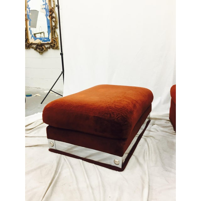 Vintage Mid-Century Modern Chair & Ottoman - A Pair - Image 9 of 11