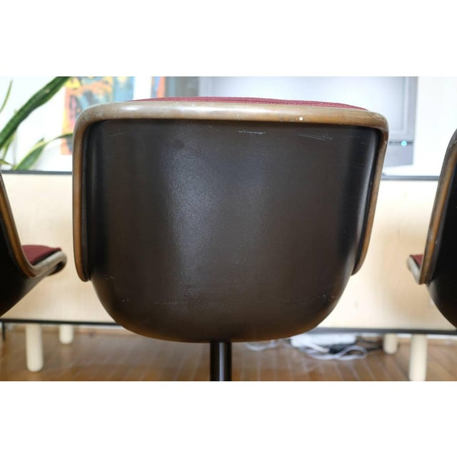 Charles Pollock Knoll Armless 4 Star Base Side Chairs- Set of 3 - Image 6 of 10