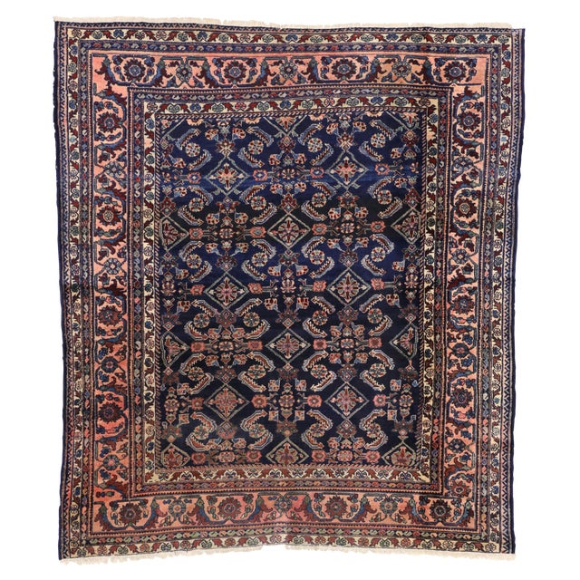 Antique Persian Traditional Modern Style Lilihan Rug - 3′10″ × 5′6″ - Image 1 of 6