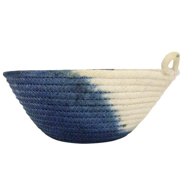 Handmade Rope Basket : Swell style handmade indigo dyed rope basket chairish