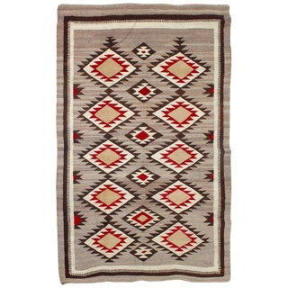 Early 20Thc Large Navajo Eye Dazzler Weaving / Rug