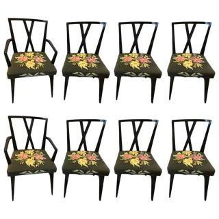 Tommi Parzinger Ebonized Dining Chairs - Set of 8