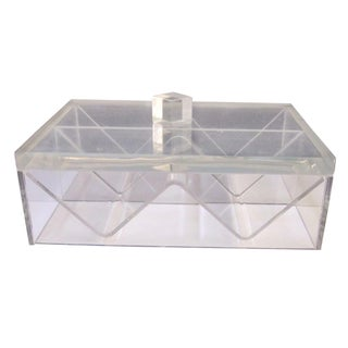 Art Deco Lucite Sculptural Box
