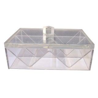 Art Deco Lucite Sculptural Box