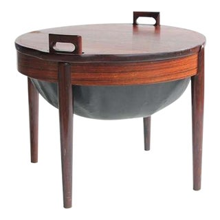 Rare Rosewood & Leather Stool/Side Table by B. J. Hansen