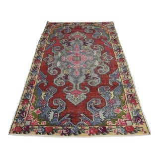 Vintage Turkish Anatolian Rug - 3′11″ × 7′1″