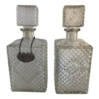 1960s Vintage Barware Decanter Bottles - A Pair