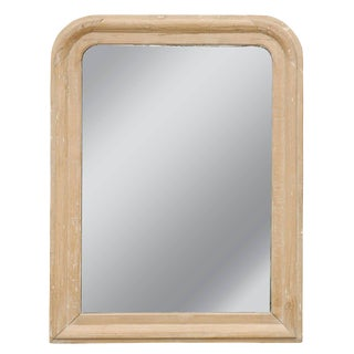French Louis-Philippe Style Stripped Pine Mirror from the Late 19th Century