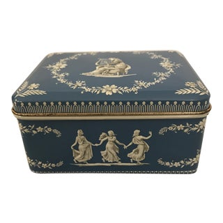 Raised Relief Wedgwood Style Rectangular Tin