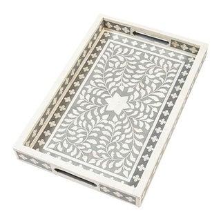 Indian Gray Bone Inlaid Tray