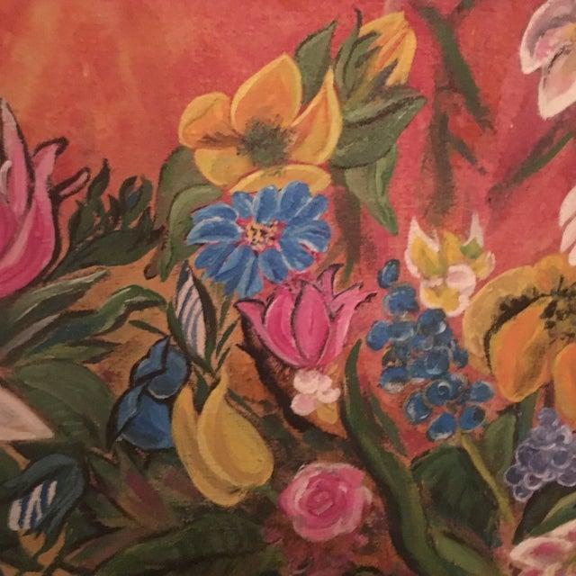 Mid-Century Modern Jardiniere 1966 Painting - Image 3 of 7