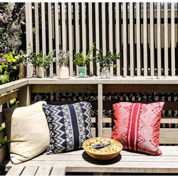 "Javanese Handwoven ""Black Ratu"" Pillow - Image 5 of 5"