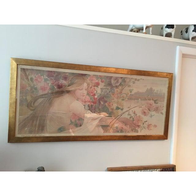 Image of Art Nouveau 'Beauty & Flowers' Poster