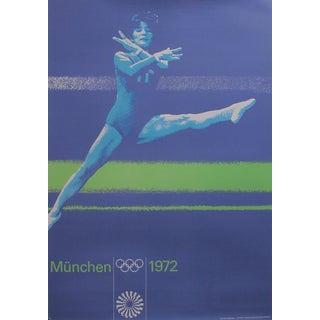 Original 1972 Munich Gymnastics Poster
