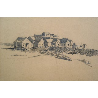 Seaside Village Pencil Study