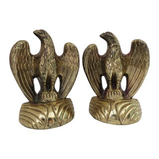 Gold Eagle Bookends - Pair