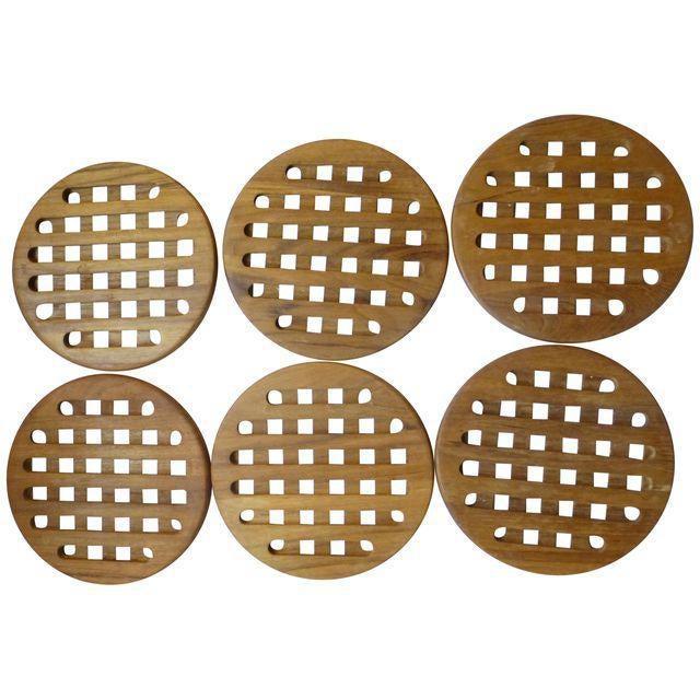Mid-Century Danish Modern Teak Hot Plates - Set of 6 - Image 8 of 8