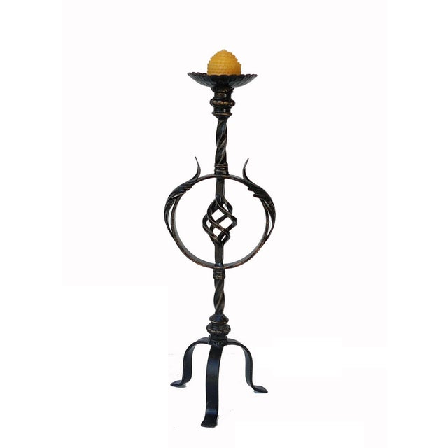 Image of Bronze Metal Decorative Table Top Candle Holder