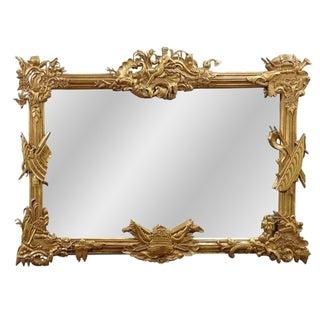 Gilded Mahogany Neptune Mirror