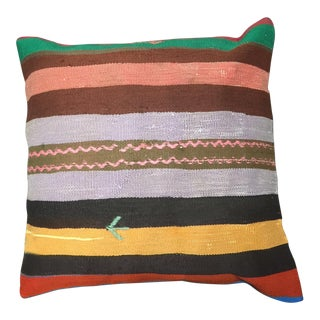 Vintage Turkish Kilim Handmade Pillow