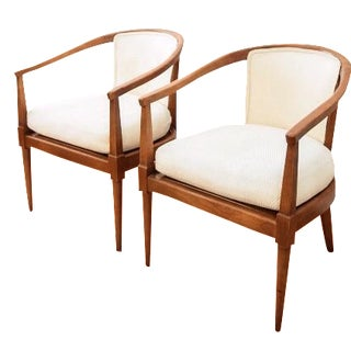 American of Martinsville Barrel Chairs - A Pair
