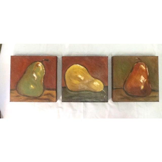 Three Pears Original Acrylic Paintings - S/3 - Image 4 of 9
