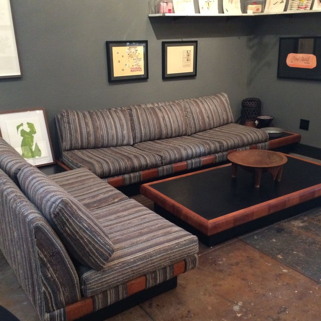 1960s Adrian Pearsall Platform Sofa and Table Set - Image 4 of 10