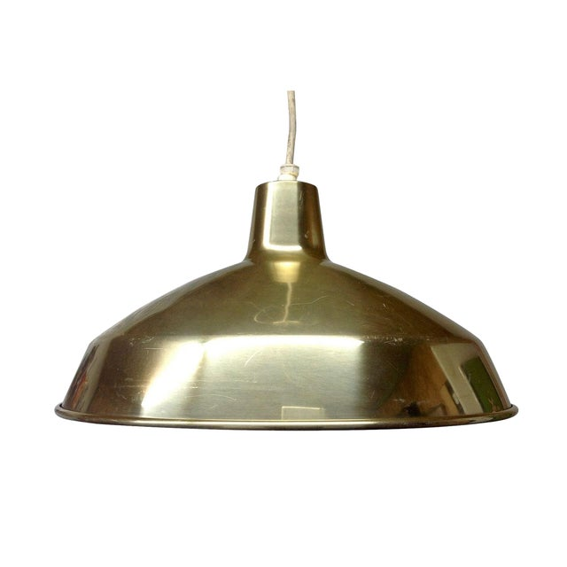 Danish Modern Brass Pendant Light - Image 1 of 4