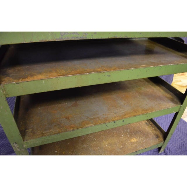 Industrial Steel Cart with Four Shelves - Image 3 of 8