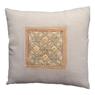 Vintage Embroidered Pieced Pillow