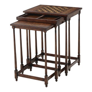 Brand New Theodore Alexander Nesting Game Tables - S/3