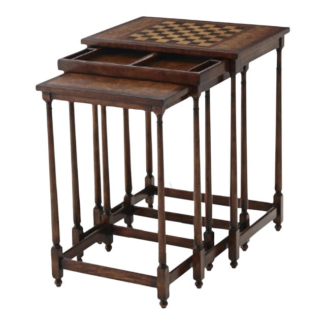 Brand New Theodore Alexander Nesting Game Tables S 3