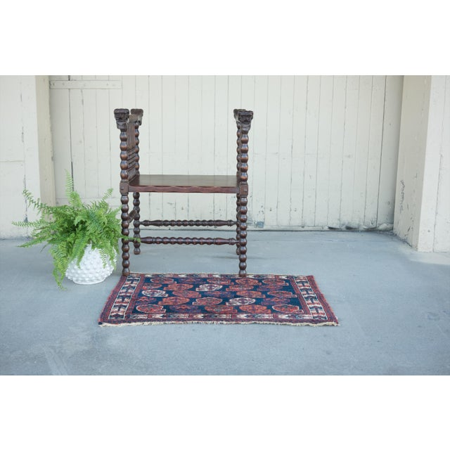 "Antique Perisan Mat Small Rug - 2'x3'2"" - Image 5 of 5"