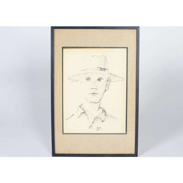Anton Weiss Original Pen and Ink Drawing - Image 2 of 4