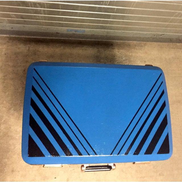 Vintage Retro Blue Suitcase Table - Image 6 of 7