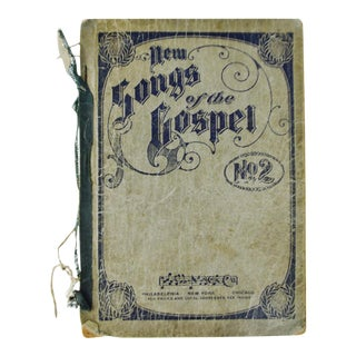 "1905 Antique ""New Songs of the Gospel No. 2"" Book"