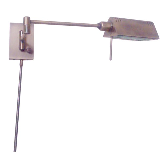 Antique Brass Finish Pharmacy Swivel Wall Lamps - A Pair - Image 5 of 6